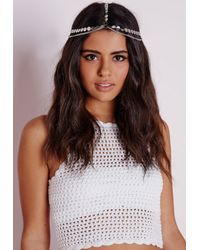 Missguided - Metallic Disk Layered Headpiece Silver - Lyst