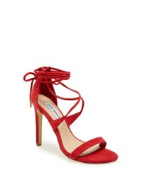 Steve Madden | Red 'presidnt' Lace-up Sandal | Lyst