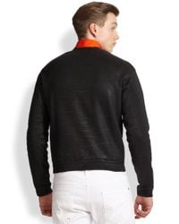 DSquared² - Black Coated Cell Block Sweatshirt for Men - Lyst