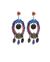 Erickson Beamon | Blue Fashion Tribe Earrings | Lyst