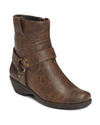 Aerosoles | Brown Destiny Faux Leather Boots | Lyst