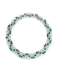CZ by Kenneth Jay Lane | Metallic Multi Cut Cubic Zirconia Vine Necklace | Lyst