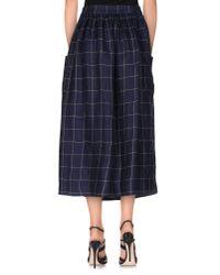 Erika Cavallini Semi Couture   Blue 3/4 Length Skirt   Lyst