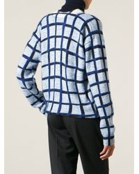 KENZO - Blue Squares Sweater - Lyst