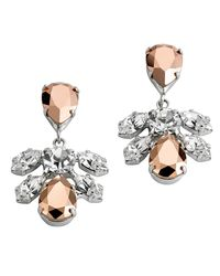 Mews London | Pink Mini Cluster Rose Earrings | Lyst