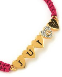Juicy Couture | Red Multi Heart Friendship Bracelet | Lyst