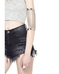 Nasty Gal - Metallic Linked Up Arm Band - Lyst