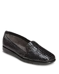 Aerosoles | Black Army Patent Leather Loafers | Lyst