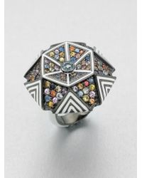 M.c.l  Matthew Campbell Laurenza | Metallic Enamel & Semi-precious Multi-stone Hexagon Ring | Lyst