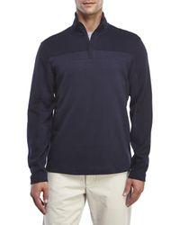 Perry Ellis | Blue Quarter-Zip Pullover for Men | Lyst