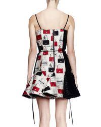 Lanvin - Multicolor Sequined Handbag Cocktail Dress - Lyst