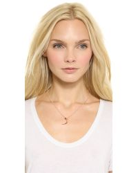 Katie Rowland | Pink Mini Talon Pendant Necklace Rose Gold | Lyst