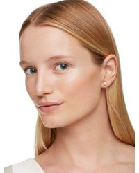 kate spade new york - Metallic Clear As Crystal Linear Ear Jacket - Lyst