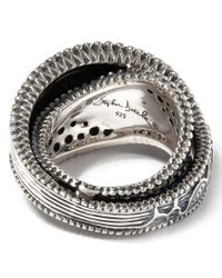 Stephen Dweck - Metallic Sterling Silver Kyoto Ring With Black Diamonds - Lyst
