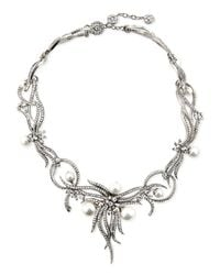 Jose & Maria Barrera | Metallic Rhodium-plated Statement Necklace | Lyst