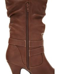 Forever 21 - Brown Heeled Knee-high Boots - Lyst