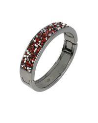 Kenneth Cole   Red Sprinkle Stone Hinged Bangle Bracelet   Lyst