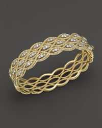 Roberto Coin | Metallic 18k Yellow And White Gold New Barocco Diamond Bangle | Lyst
