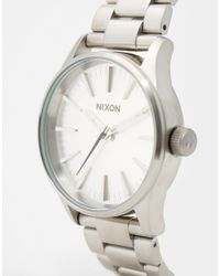 Nixon - Metallic Sentry 38 Stainless Steel Watch A450 for Men - Lyst