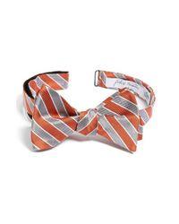 John W. Nordstrom | Orange Stripe Silk Bow Tie for Men | Lyst