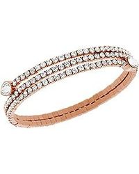 Swarovski - Metallic Twisty Drop Bangle - Lyst