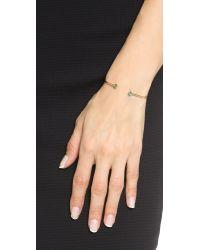 Shashi - Green Rhyan Cuff Bracelet - Clear/gold - Lyst
