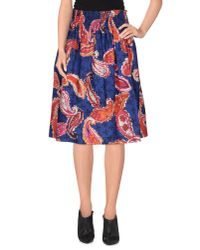 Jucca - Blue Knee Length Skirt - Lyst