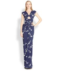 Michael Kors - Floral Jersey Gown - Lyst