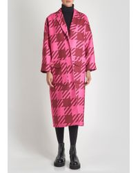 House of Holland - Pink Gingham Coat - Lyst