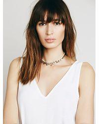 Free People | White Rachel Beaded Collar | Lyst