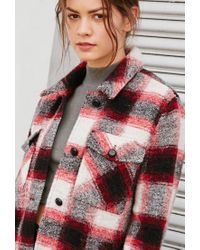 Forever 21 | Red Plaid Shirt Jacket | Lyst