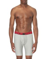Under Armour - Gray Original Branded Stretch-jersey Boxer Briefs for Men - Lyst
