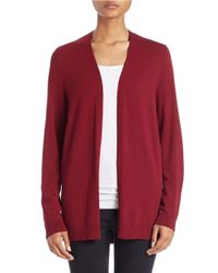 Lord & Taylor - Red Plus Open-front Cardigan - Lyst