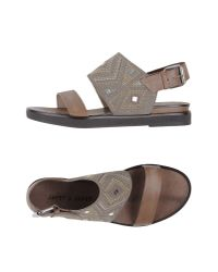 Janet & Janet - Gray Sandals - Lyst