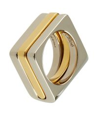 Chloé - Metallic Greta Rings (set Of 2) - Lyst