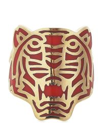 KENZO - Metallic Gold Plated Tiger Ring - Lyst