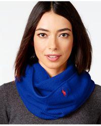 Polo Ralph Lauren | Blue Waffle Knit Infinity Loop | Lyst
