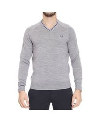 Fred Perry | Gray Sweater for Men | Lyst