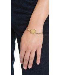 Marc By Marc Jacobs | Metallic Big Logo Hinge Bracelet - Oro | Lyst
