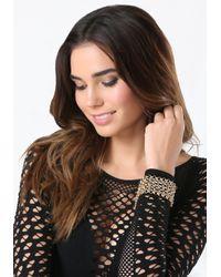 Bebe | Metallic Chainmail Magnetic Bracelet | Lyst