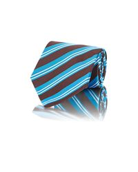 Kiton - Blue Men's Diagonal-striped Jacquard Necktie for Men - Lyst