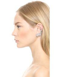Ben-Amun | Metallic Cascading Crystal Earrings - Silver/Clear | Lyst