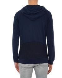 Alexander McQueen - Blue Asymmetric Hooded Sweateshirt for Men - Lyst
