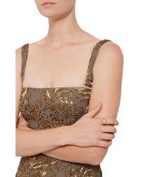 Jordan Alexander   Metallic Mo Exclusive: 18k Rose Gold Diamond And Pearl Slice Ring   Lyst