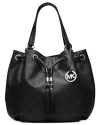 Michael Kors | Black Michael Jet Set Item Large Gathered Tote | Lyst
