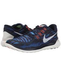 Nike - Blue Free 5.0 Print for Men - Lyst