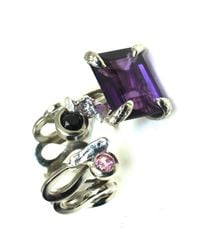 Sibilla G Jewelry | Metallic Sibilla G Cool Jazz Amethyst Ring | Lyst