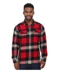 Patagonia - Red L/s Fjord Flannel Shirt for Men - Lyst