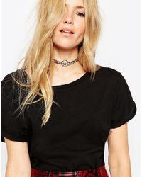 ASOS - Metallic Chunky Metal Choker Necklace - Lyst