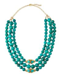 Devon Leigh - Green Triple-strand Turquoise Necklace - Lyst
